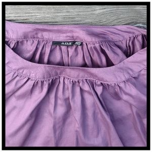 A.N.A . Pretty Purple Smock-style Top